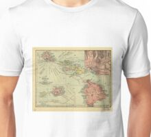 Vintage Map of Hawaii (1912) Unisex T-Shirt
