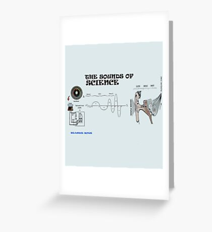 the sounds of science Greeting Card