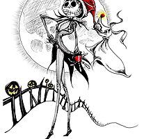 Jack Skellington & Zero by DeerBeth