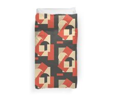 Geometrical abstract art deco mash-up 1 Duvet Cover