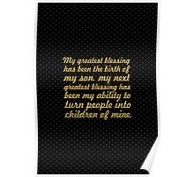 "My greatest blessing...""Maya Angelou"" Inspirational Quote Poster"