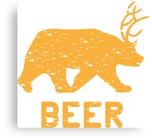 Bear + Deer = Beer Canvas Print