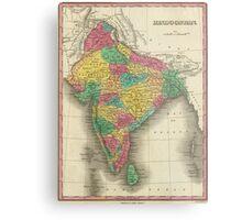 Vintage Map of India (1831) Metal Print