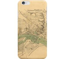 Map of the city of Richmond, Virginia (1858-1864) iPhone Case/Skin