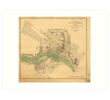 Map of the city of Richmond, Virginia (1858-1864) Art Print