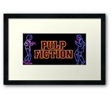 -TARANTINO- Pulp Fiction Neon Framed Print