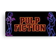 -TARANTINO- Pulp Fiction Neon Canvas Print
