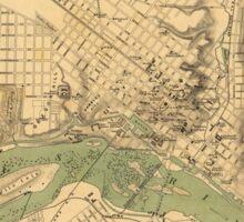 Map of the city of Richmond, Virginia (1858-1864) Sticker