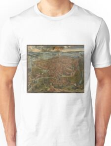 Vintage Map of Ghent Belgium (1534) Unisex T-Shirt