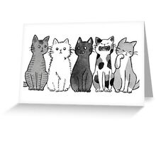 Cool Tumblr cat drawing Greeting Card