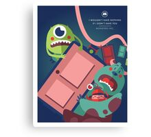 Monsters Inc. Canvas Print