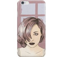 City View Portrait Illustration iPhone Case/Skin