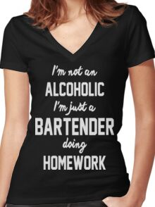 bartender, bartender t shirt, bartender hoodie Women's Fitted V-Neck T-Shirt