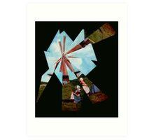 Windmill. Art Print