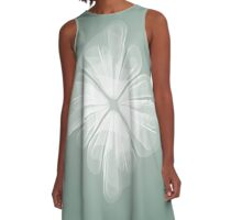 White Tulle A-Line Dress