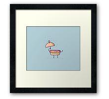 BurgerBrella Framed Print