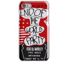 MR ROBOT: END OF THE WORLD PARTY iPhone Case/Skin
