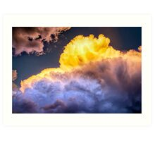 Colorado Cumulus Gold Art Print