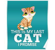 This Is My Last Cat I Promise  Poster
