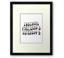 Stranger Things - Alphabet Wall Framed Print