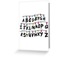 Stranger Things - Alphabet Wall Greeting Card