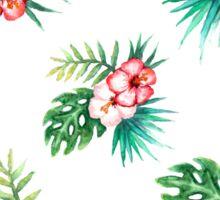 Tropical watercolor flowers pattern Sticker
