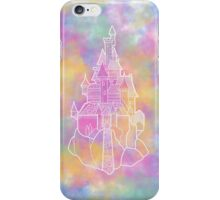 Beauty and the beast castle pastels illustration iPhone Case/Skin