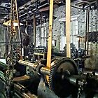 Large Lathe in Machine Shop by Susan Savad