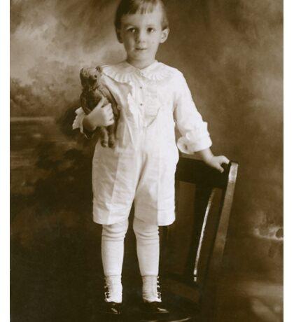 Little Boy Child with Teddy Bear Sticker