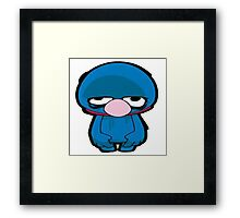 Cookie Monster sad Framed Print