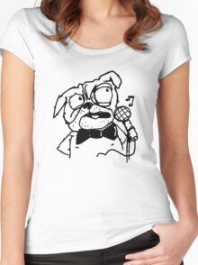 Pug Jazzy Songs Women's Fitted Scoop T-Shirt