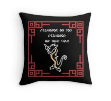 Dishonor on you cow! Throw Pillow