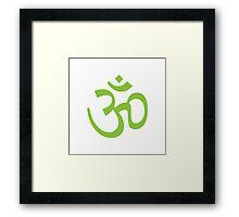 Ohm, Grass Green Framed Print