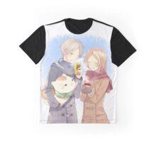 Natsume Yuujinchou - Natsume Takashi & Nyanko-sensei & Taki Tooru Graphic T-Shirt
