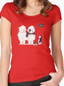 Penguin Become To Panda Women's Fitted Scoop T-Shirt