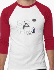 Penguin Become To Panda Men's Baseball ¾ T-Shirt