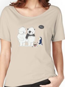 Penguin Become To Panda Women's Relaxed Fit T-Shirt