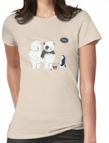 Penguin Become To Panda Womens Fitted T-Shirt
