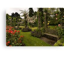 It is Raining Rose Petals - Queen Mary Gardens on a Rainy London Day Canvas Print