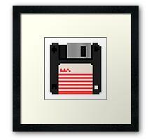 """8bit 3.5"""" Floppy Disk 1998 Framed Print"""