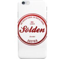 Sölden Austria Ski Resort iPhone Case/Skin