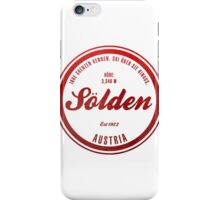 Sölden Austria Ski Resort iPhone Case/Skin