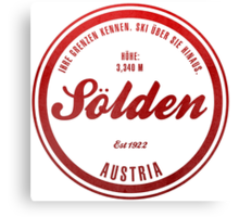 Sölden Austria Ski Resort Canvas Print