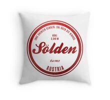 Sölden Austria Ski Resort Throw Pillow