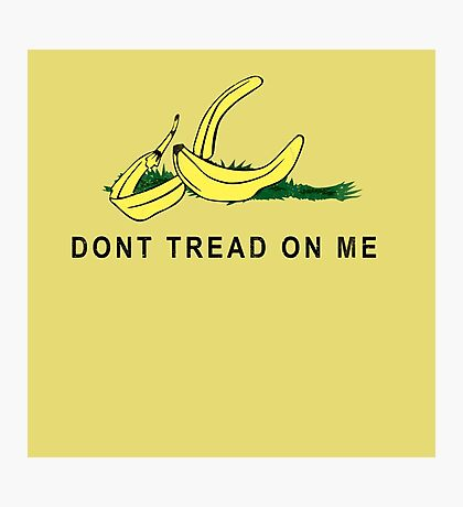 Vintage Banana Gadsen Flag Spoof Photographic Print