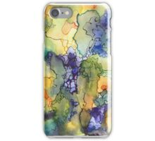 Chasing watercolor spills iPhone Case/Skin
