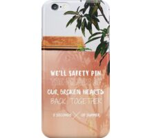 """5 seconds of summer """"safety pin"""" iphone case iPhone Case/Skin"""