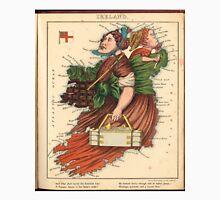 Vintage Map of Lady Ireland (1868) Unisex T-Shirt