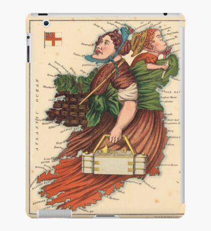 Vintage Map of Lady Ireland (1868) iPad Case/Skin