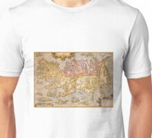 Vintage Map of Iceland (1590) Unisex T-Shirt